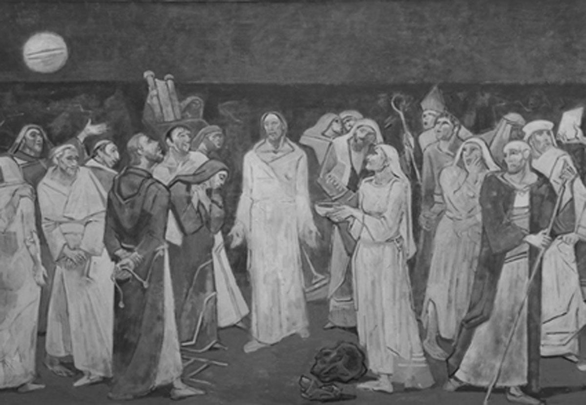 Rolf Maria Koller, Der sich offenbarende auferstandene Christus, Öl auf Leinwand