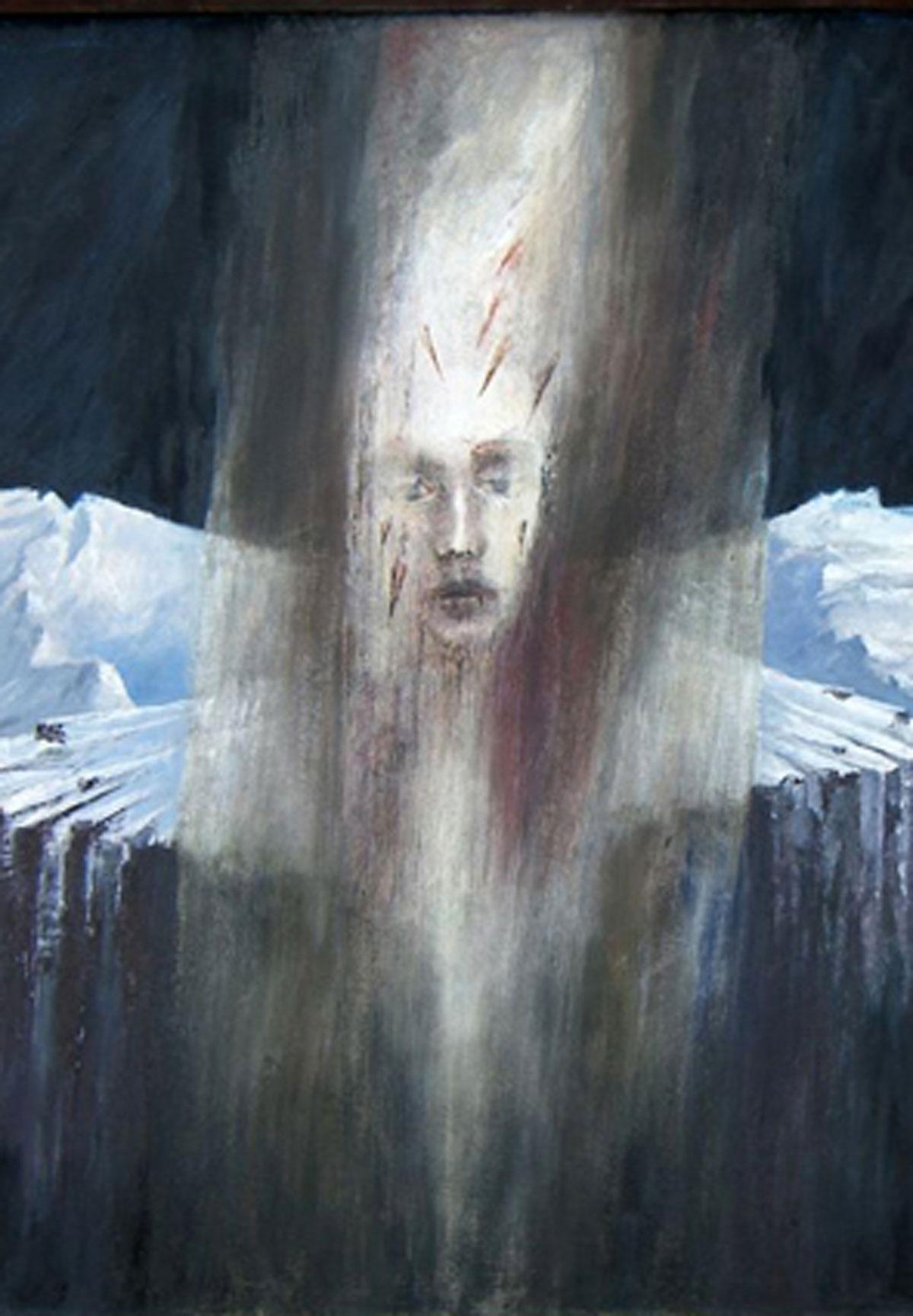 Egbert Verbeek, Christus vor Eislandschaft, 1982