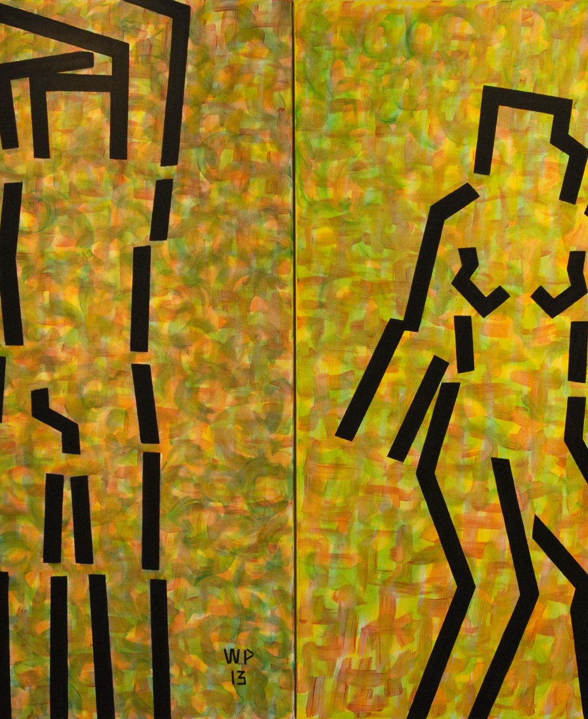 Walter Prinz: ohne Titel, 100/140 cm, Acryl auf Leinwand, 2013