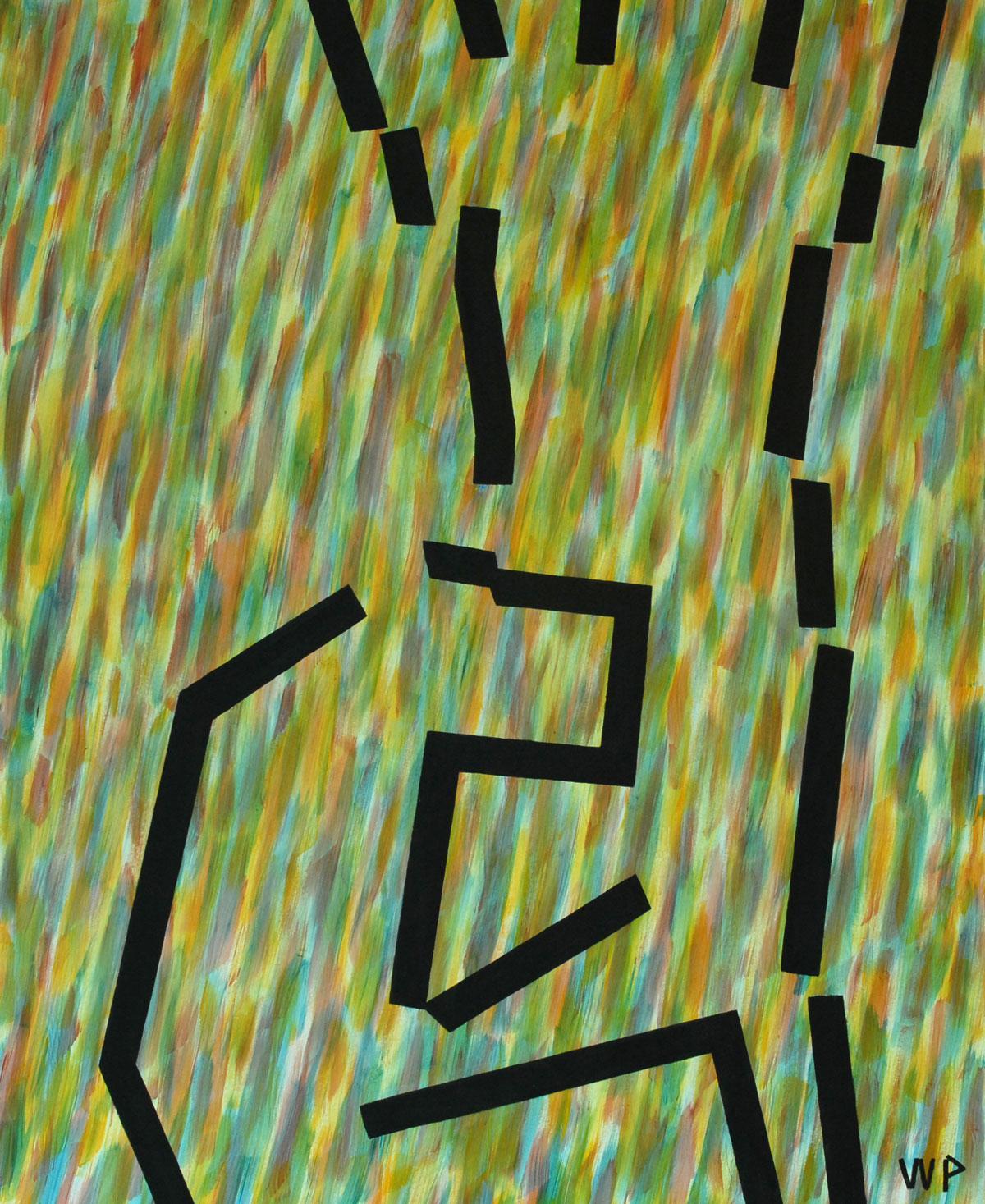 Walter Prinz: ohne Titel, 100/140 cm, Acryl auf Leinwand, 2012