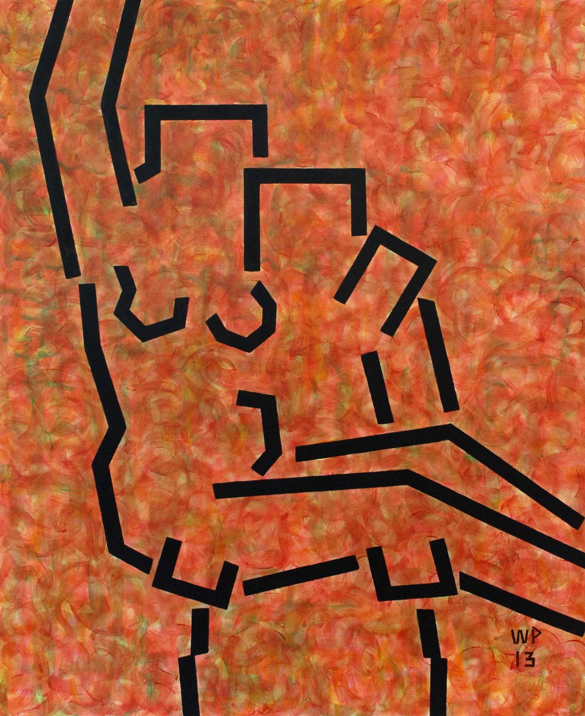 Walter Prinz: ohne Titel, 80/100 cm, Acryl auf Leinwand, 2012