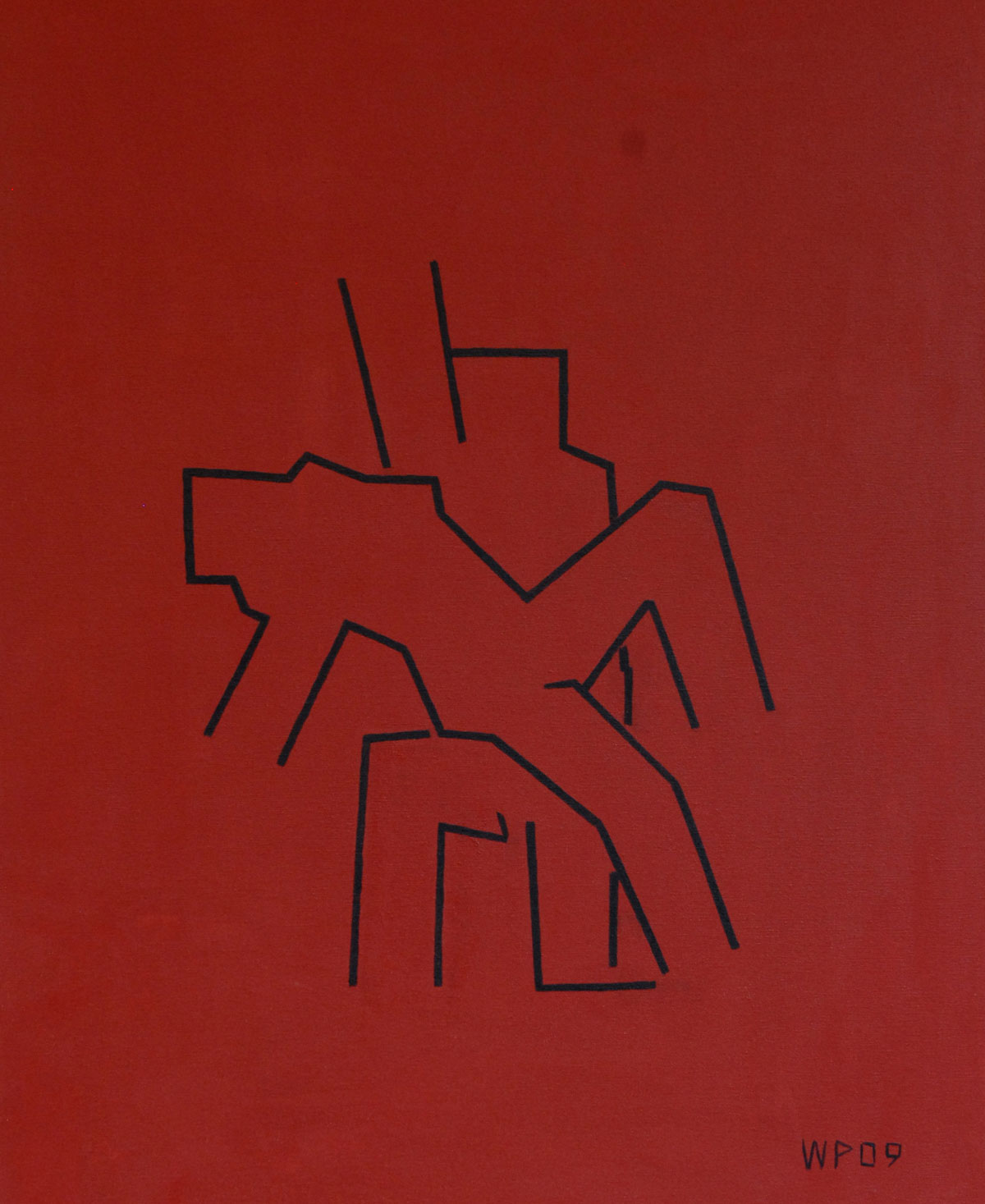 Walter Prinz: ohne Titel, 60/80 cm, Acryl auf Leinwand, 2009