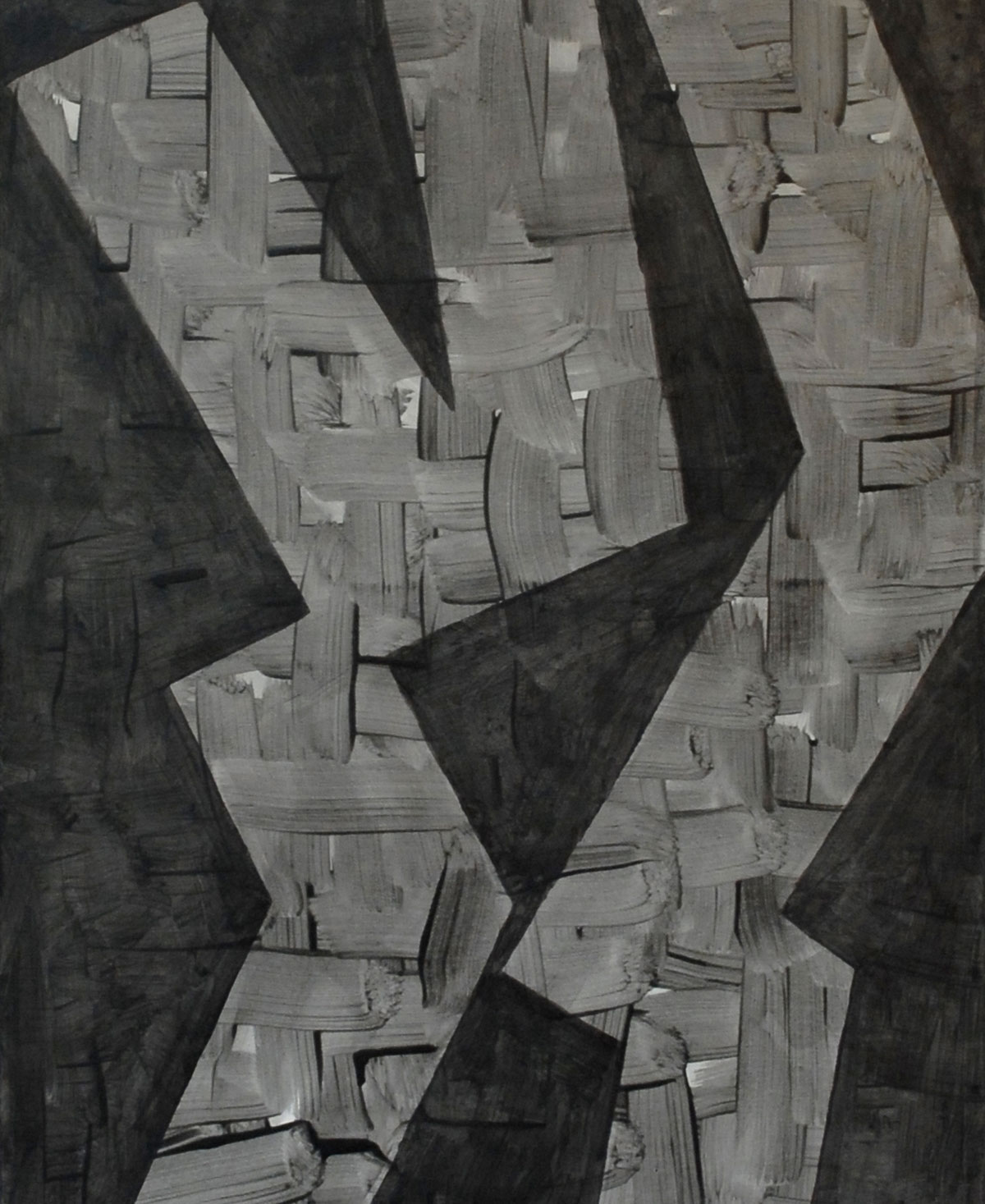 Walter Prinz: ohne Titel, 50/150 cm, Acryl auf Leinwand, 2013
