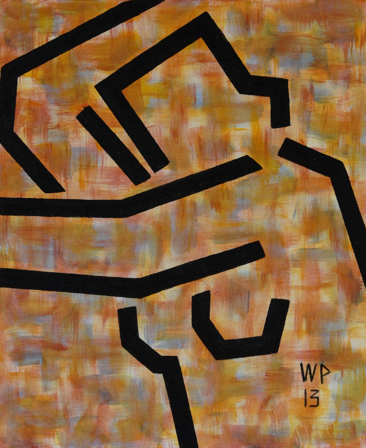 Walter Prinz: ohne Titel, 50/60 cm, Acryl auf Leinwand, 2013