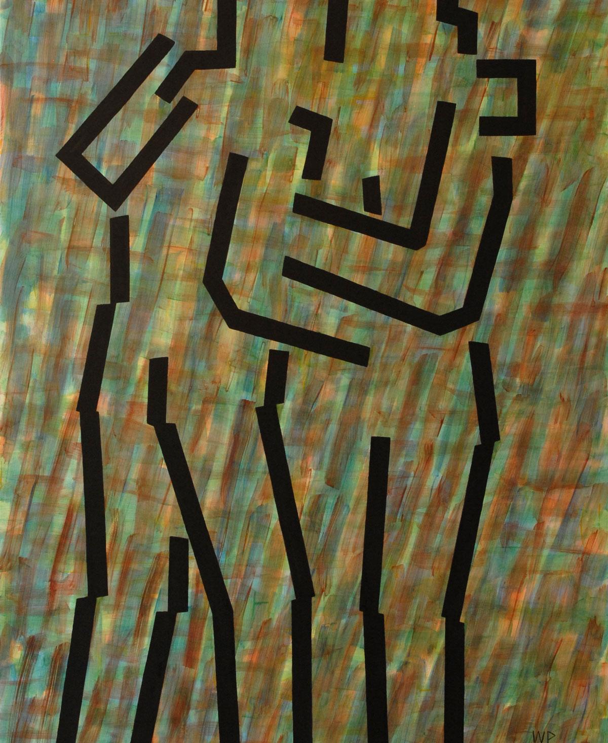Walter Prinz: ohne Titel, 90/150 cm, Acryl auf Leinwand, 2013