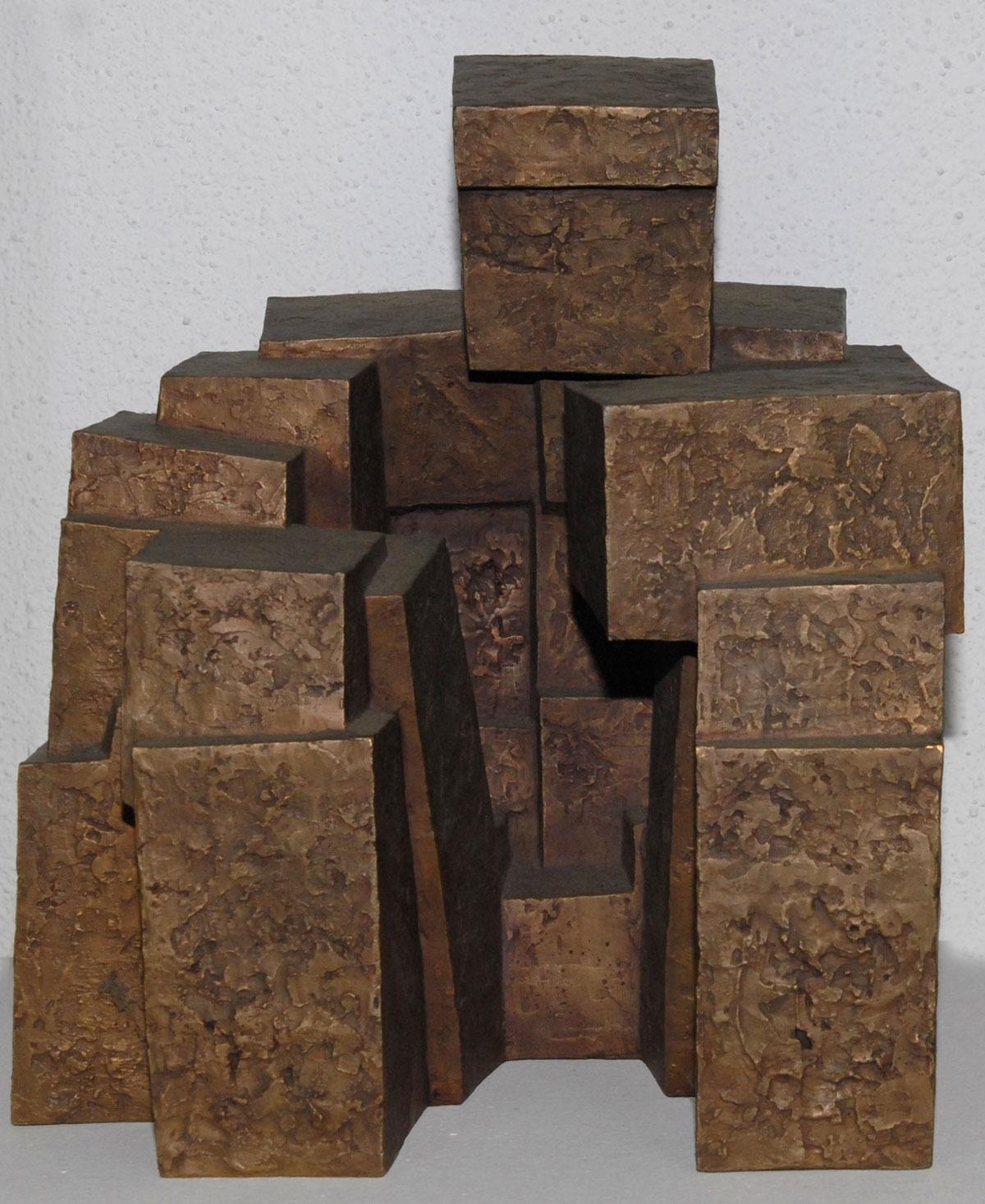 Walter Prinz: Sitzender, Plastik, Bronze, 2000