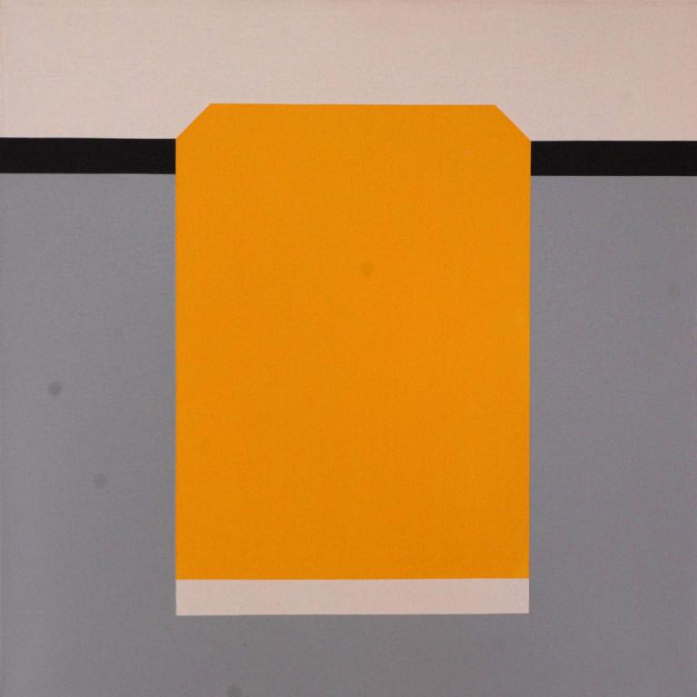 Zimmermann: Gelbes Feld auf weißer Basis 2000