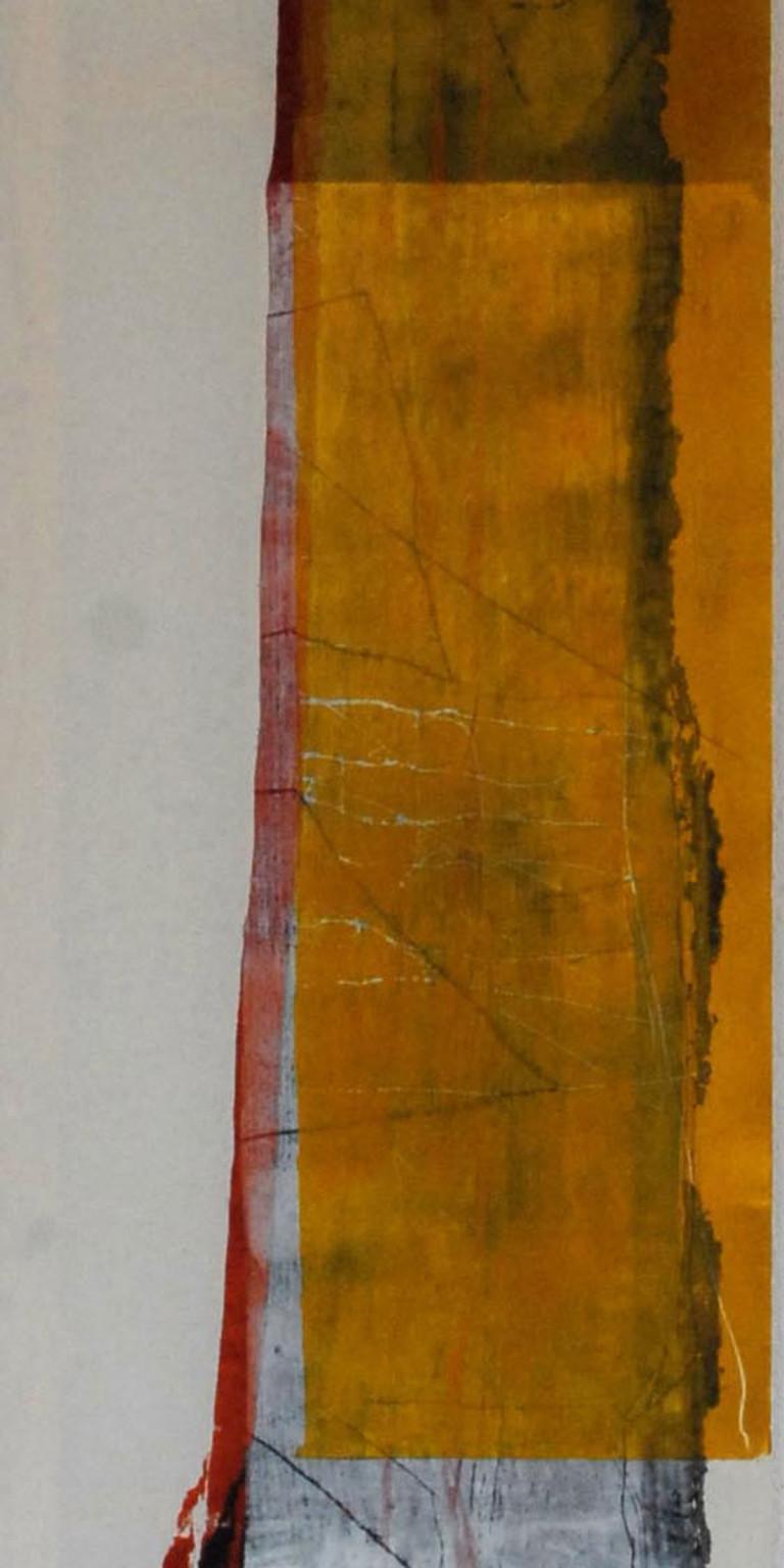 Albert Krüger: DN 2, Holzdruck auf Tuch,