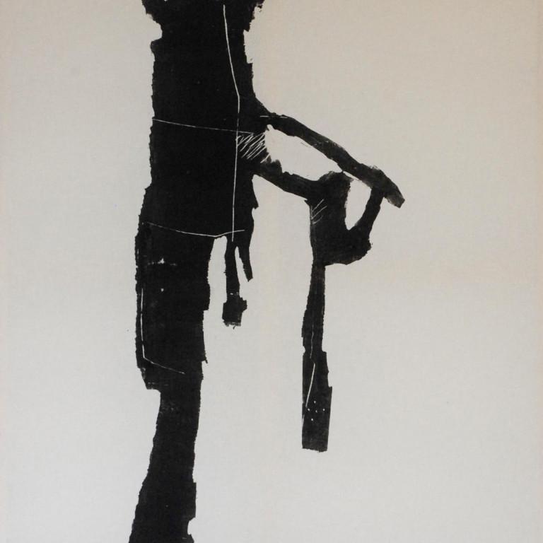 Albert Krüger: edge 1-4, Holzdrucke auf Tuch,
