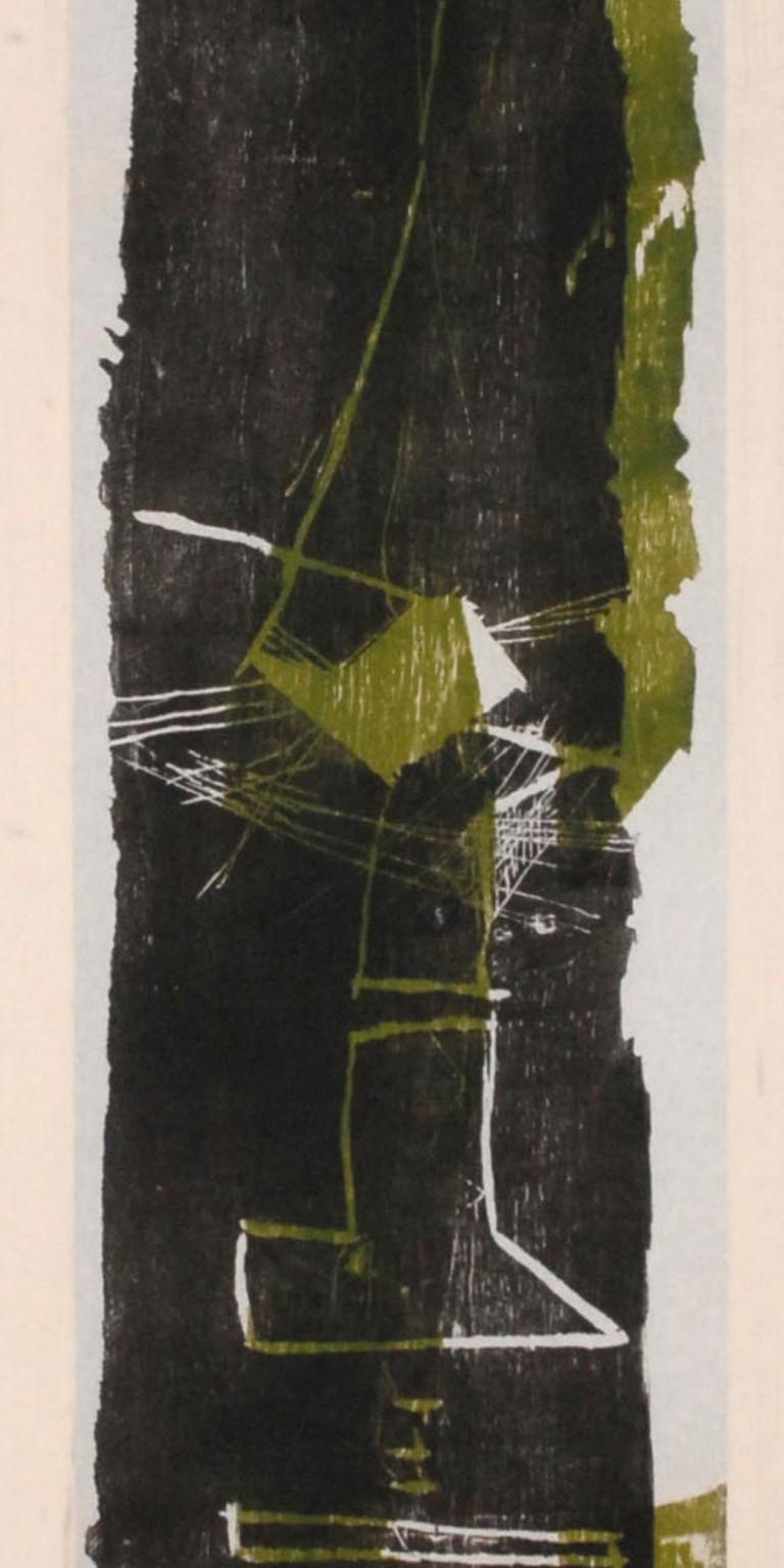 Albert Krüger: DN 3, Holzdruck auf Tuch