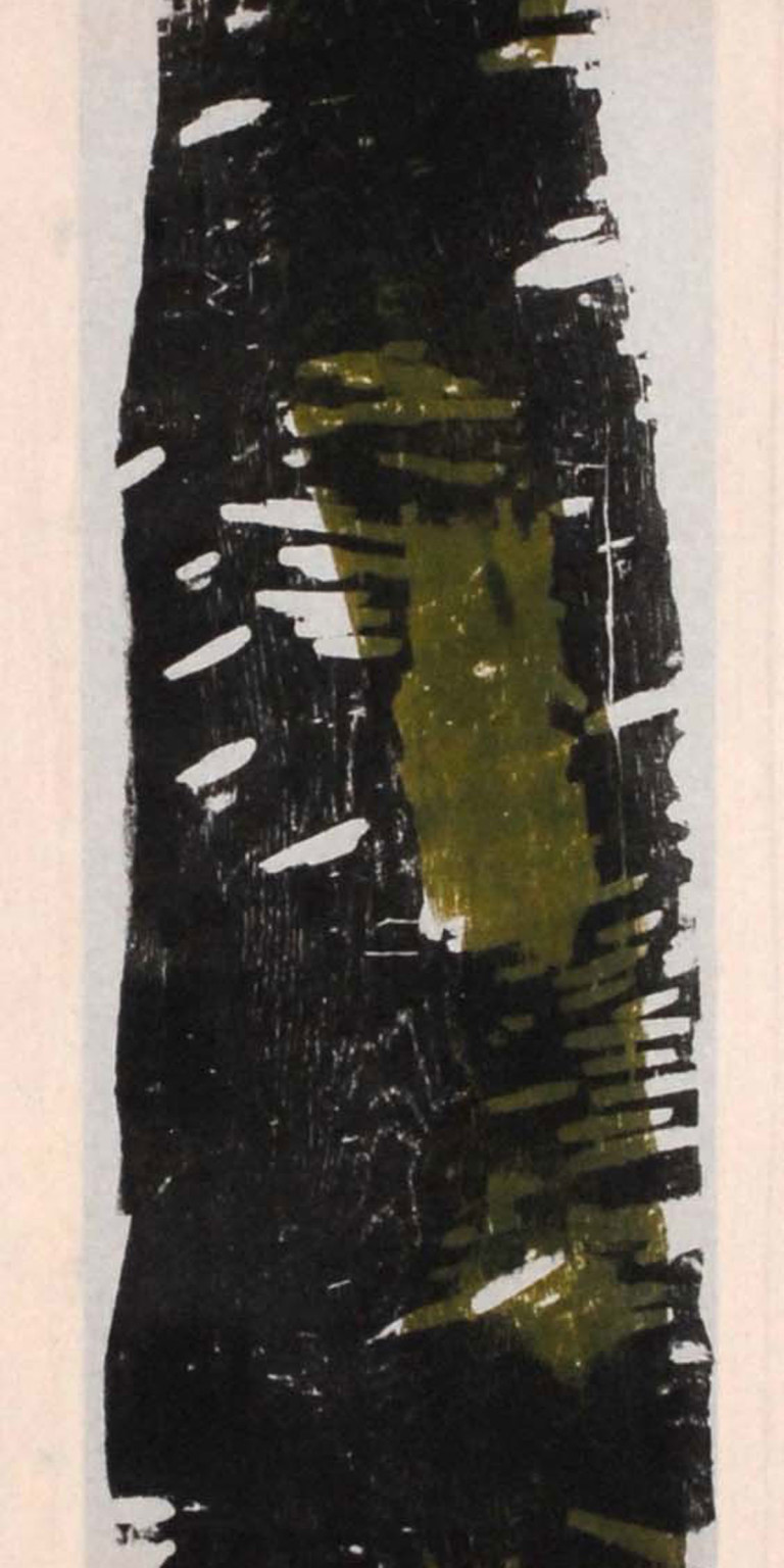 Albert Krüger: DN 4, Holzdruck auf Tuch