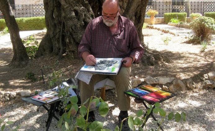 Appold_Malen im Garten Gethsemane