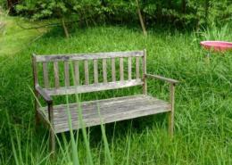 Mit Friedrich Hölderlin auf der Gartenbank von Uwe Appold