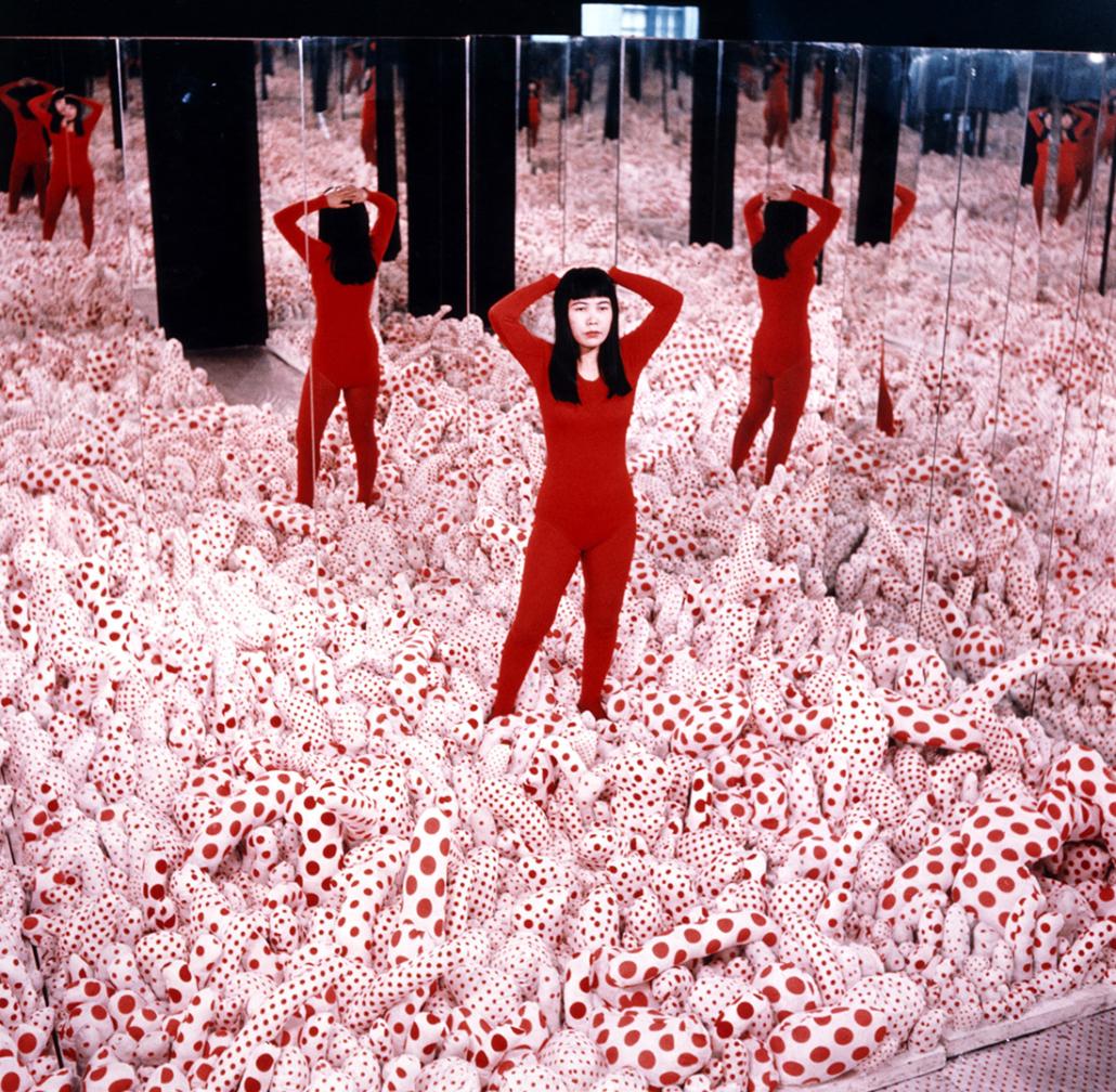 Mirror Room. Teil der Ausstellung der Künstlerin Yayoi Kusama