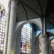 Die Gläser von Gouda-Präsentation in der Akademie in den Häusern