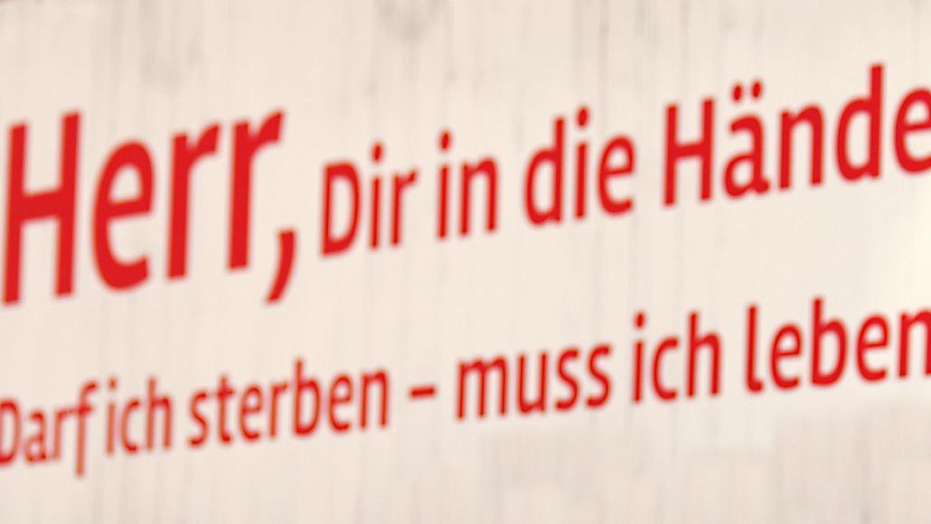 Selbstbestimmung auch im Sterben-Tagung in Bensberg