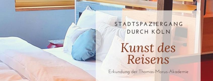 Stadtspaziergang durch Köln. Kunst des Reisens