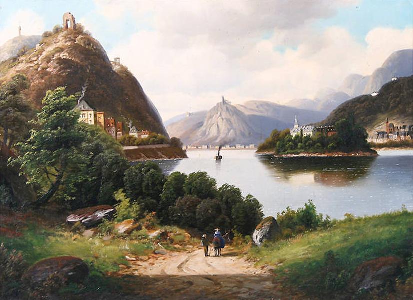Rheinromantik. Ein Bild von Forstmann. Insel Nonnenwerth-Mehr im Blog Akademie in den Häusern